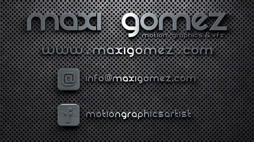 Motion Graphics /// VFX Artist - Maxi Gomez
