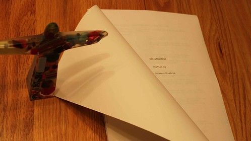 "90 page draft copy of New Script ""Get Sasquatch.""  Will add another 15 pages, and rewrite 10 to 20 times."