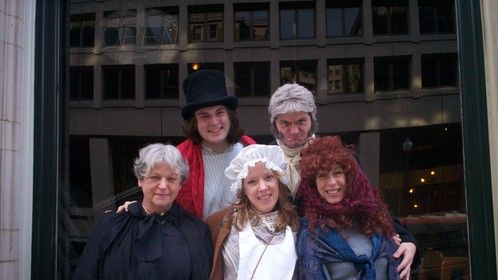 """Post show shot from """"A Dickens of a Tour: Charles Dickens in Washington"""""""