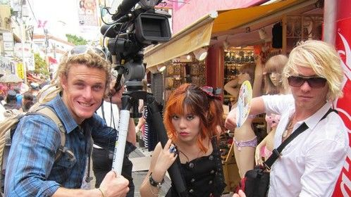 Working on the National Geographic travel TV show in Tokyo, Japan. http://www.lacarmina.com/pirates