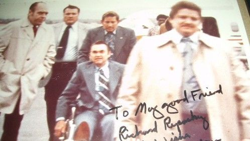 With Gov. George Wallace after the shooting.