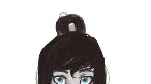Fan art portrait of Korra from The Legend of Korra