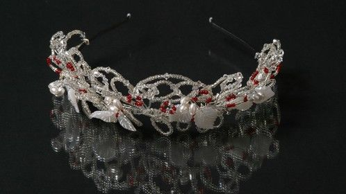 Faux Mother of pearl 1920's themed tiara