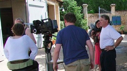 """In between takes during the filming of """"The Scenic Route""""; June 2011."""