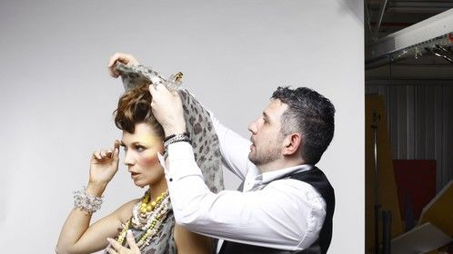 Leading Make-up Artist and Director, Juan Lopez Alvarez, Face of Ten Image Professional Cosmetics Shoot 2012