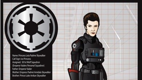 A custom character commission Princess Leia in an Alternate Reality