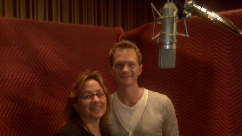 Directing a voice over session with Neal Patrick Harris.
