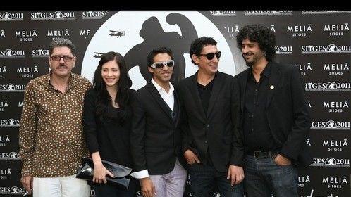 Con Antonio Dechent, Andrea Duro, Alexis Diaz de Villegas y Alejandro Brugués. Festival de Sitges 2011