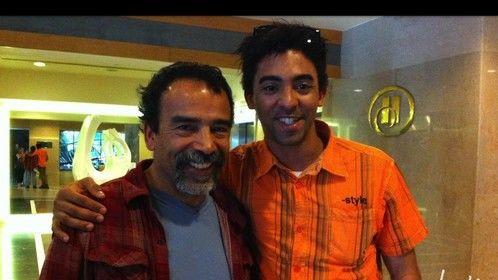 Con Damian Alcazar. Festival Internacional de Cine de Guadalajara 2012