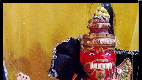 Ravana from Ruler of the World, puppet show of the Indian epic The Ramayana.