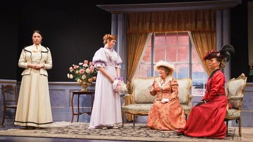from An Ideal Husband at The Miller Centre Theatre, Caterham. Set and costume design by Keith Orton.