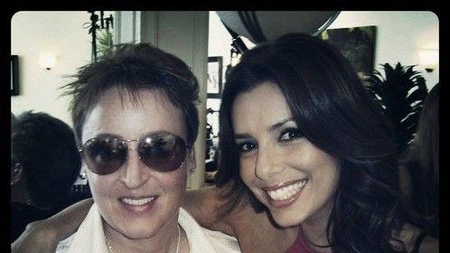 With Eva on set