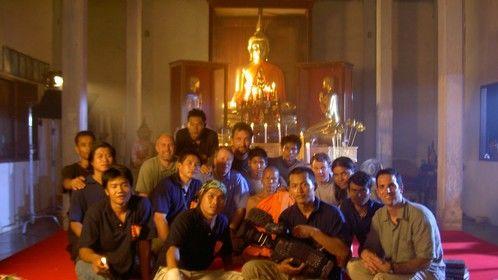 Crew and Thai Temple shot