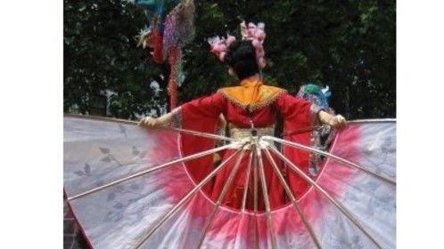 china diva costume for stilt walkers