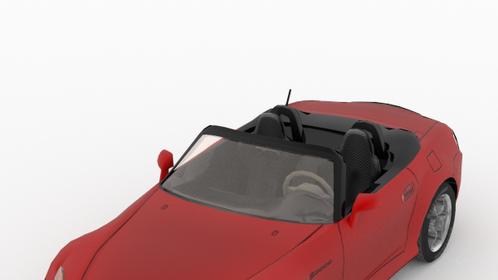 A car render de rigueur—Honda S2000. Modeled in Blender, render in Cycles. Used in a car racing game.