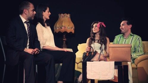 """During the show  """"Il povero Paolo"""" - in the role of stupid and crazy girl"""