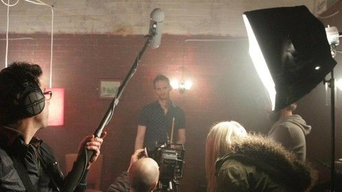 Filming 'The Angel'
