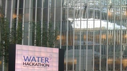 Talking at the Water Hackaton at the World Bank