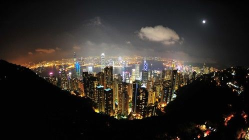 From Victoria Peak.  Hong Kong. (September, 2009)