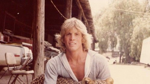 Me at age 19 in the parking lot of the old Jungleland site in Thousand Oaks, Ca with Roman, my first leopard.