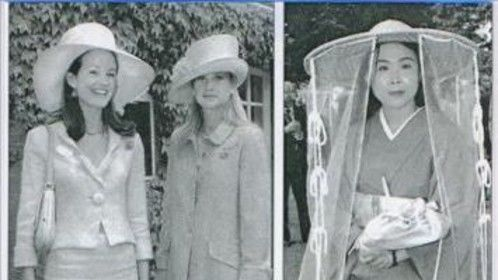 Akemi's attendance of Royal Ascot in 12th century hat and an authentic silk kimono, article from the Daily Telegraph