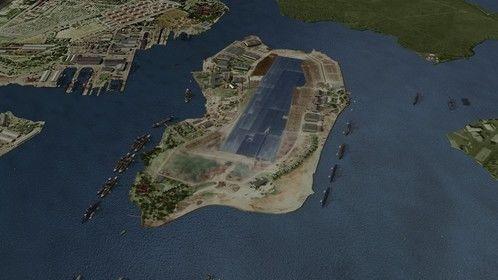 CGI of Pearl Harbor