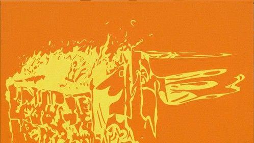 Upshot-Knothole 2, Acrylic on Canvas, 2008