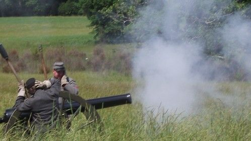 Canon Firing 4th Maryland Confederate Reenactors