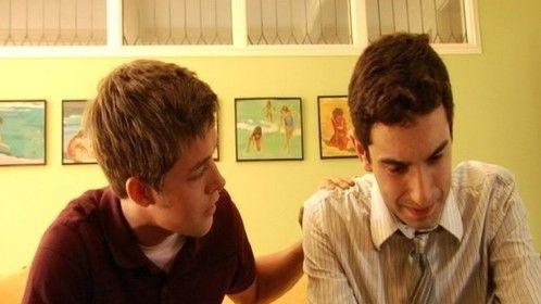 Playing Chris in 'Some Holiday' with co-star, Eric Barron