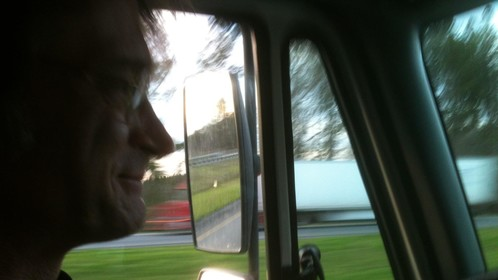 Driving the truck, on tour with Sacagawea, 2012.
