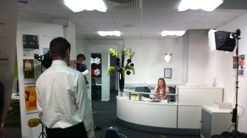 Office dolly in scene