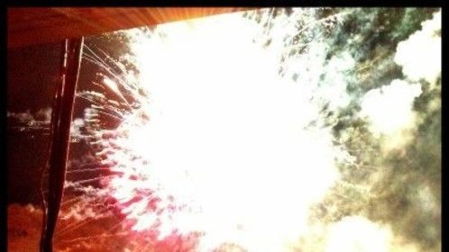 fireworks in the canyon