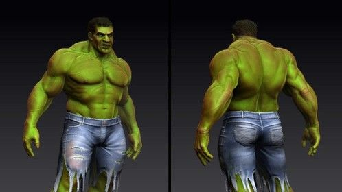 Incredible Hulk Fan Art - ZBrush 3d sculpt