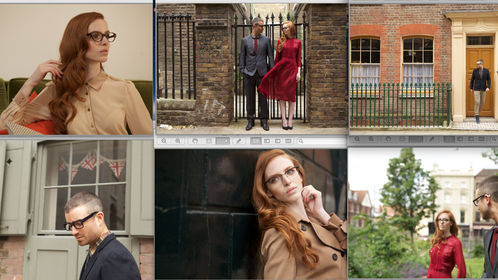 Raw screen shots for William Morris Eyewear Campaign: Art Direction & Production