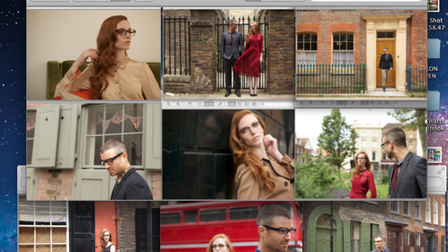 Screen shots for William Morris Eyewear Campaign: Art Direction & Production
