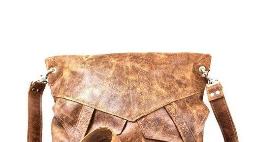 Seville Leather Foldover Messenger