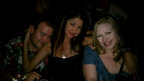 Me with adult film stars Nadia Night and Vicky Vixen