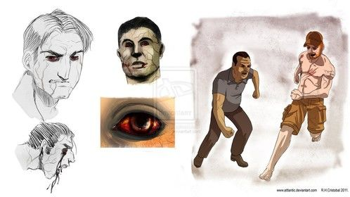 Designs for a Zombie porject, i haven't know anything about it again...
