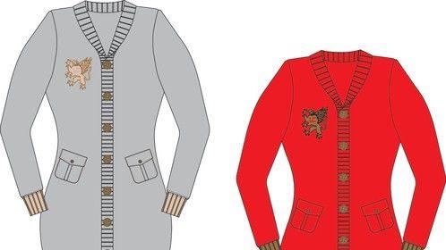 CAD work/Shawl Neck Sweater Dress