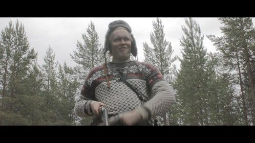"""Me, playing an inbred reindeer herder (a lá Deliverance). A screencap from our upcoming feature film """"SEITA""""."""