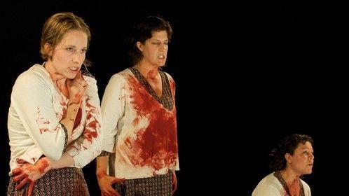 """1/3 of Medea in """"Medea3,"""" with Ochlos Theatre Lab in 2009"""