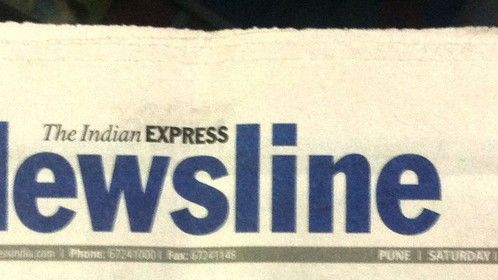 Indian Express Front Page Highlight