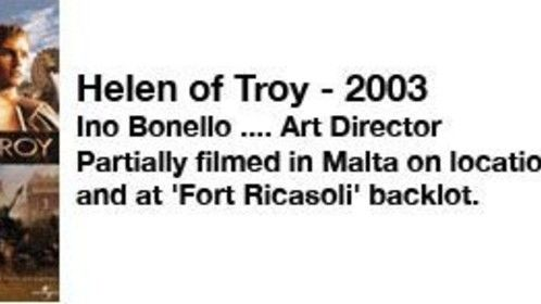 Ino was nominated for his work in the art department by the Art Directors Guild, of USA, for the TV series Helen of Troy