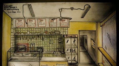 Concept Art Kebab Place