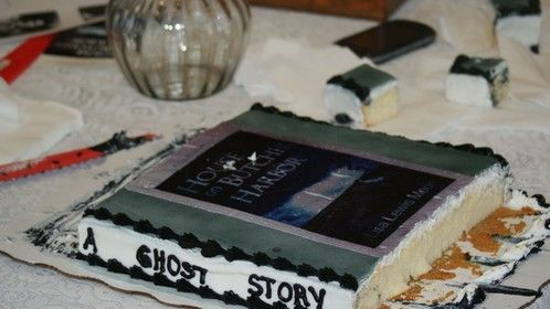 My novel House on Butcher Harbor as a cake.