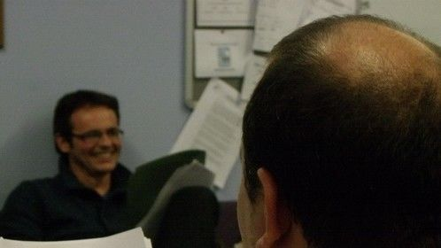 """Table reading for """"Unquiet Worlds"""". Shiny bald spot; woo."""