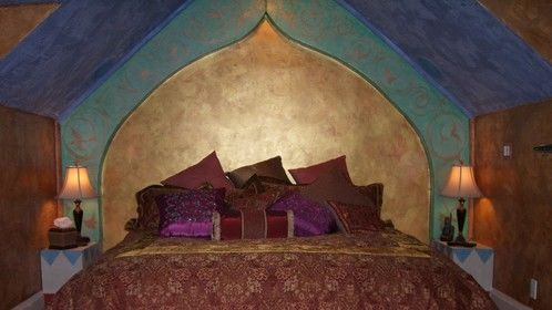 Arabian Night's room design that can be transferred to set design.