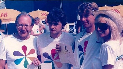 Winner of the Technicolor fun run at the Canne festival 1986