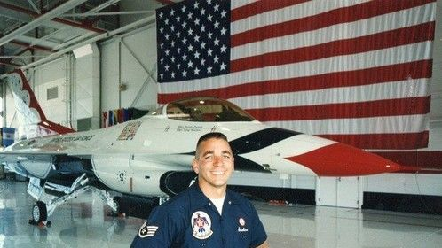 1999 with the USAF Thunderbirds.  Yup, that's a crazy short cut!