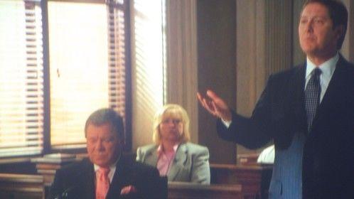 On set @ Boston Legal w/William Shatner & james Spader